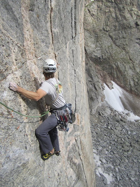 Rock Climbing Photo: Getting psyched for the traverse, wishing there we...