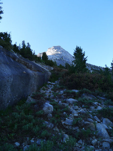 Rock Climbing Photo: the NW Buttress approach trail winds its way up th...