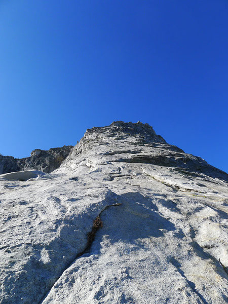 Rock Climbing Photo: steeper section on the NW Buttress