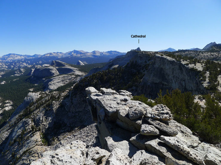 Rock Climbing Photo: Cathedral Peak from the summit of Tenaya Peak