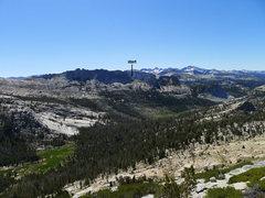 Rock Climbing Photo: notch where the Matthes Crest traverse starts; the...