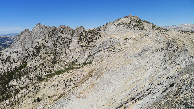 (left to right) Echo Peaks, Echo Ridge and the final towers on Matthes