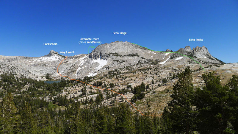 Rock Climbing Photo: options for getting from Matthes to Cathedral