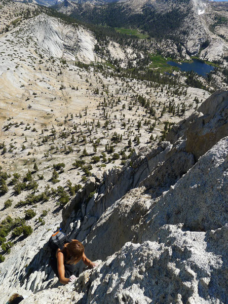 Alwyne on the SE Buttress of Cathedral