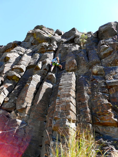 Rock Climbing Photo: Toddler, decent warm up to black cliffs area.