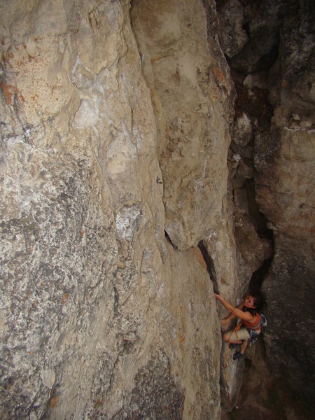 Rock Climbing Photo: Alison Coin duels with Skywalker, 5.9+.   Warm Up ...