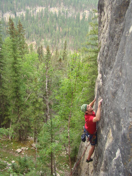 Rock Climbing Photo: Kyle anticipating the results of Paternity Test, 5...