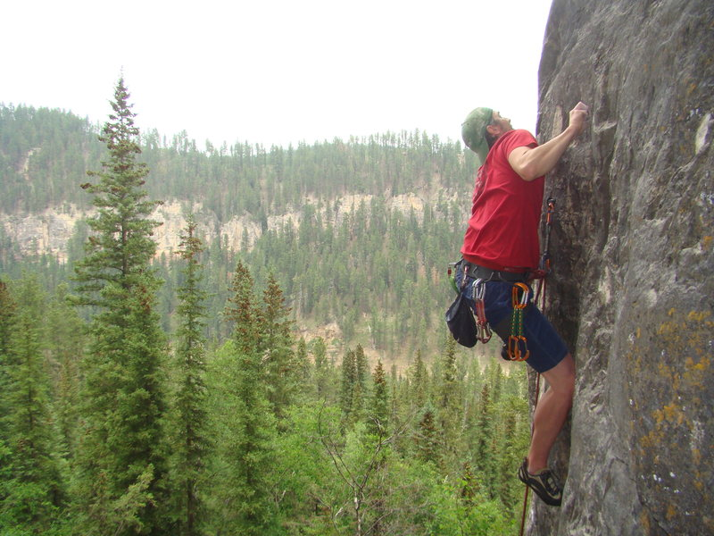 And the results are in!<br> <br> Kyle sending Paternity Test, 5.11a<br> <br> The Darkside Wall, The Darkside.<br> Spearfish Canyon, South Dakota.
