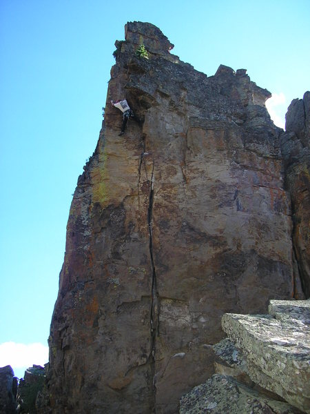 Rock Climbing Photo: Jack finishing it off.  Good guy to have around in...