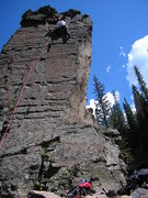 Rock Climbing Photo: The climb and the guy leading it are possibly too ...