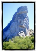 Rock Climbing Photo: As seen from approach trail from parking lot ~ 3-5...