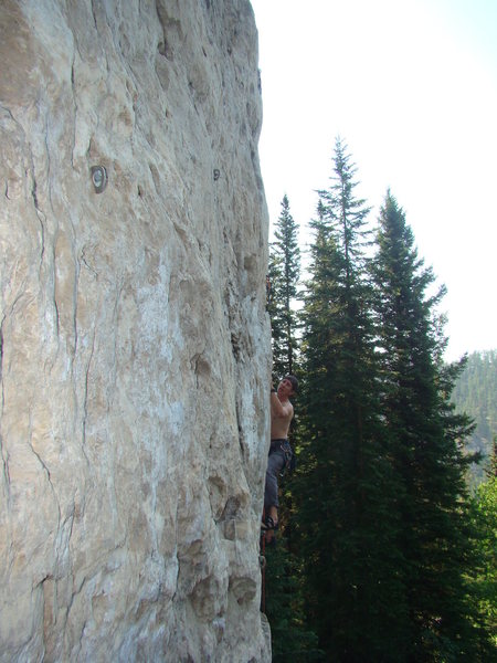Mister Fister, 5.11a<br> Dark Side, Spearfish Canyon.