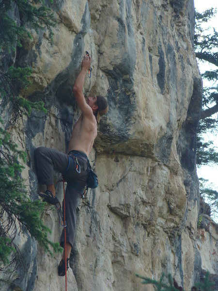 Big moves to big holds on overhung terrain with a chance to get freaky with it!<br> <br> Mister Fister, 5.10d/5.11a