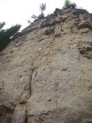 Rock Climbing Photo: Mister Fister, 5.11a   (Maybe 5.10d for the well i...