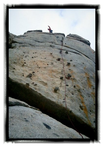 Rock Climbing Photo: Post onsite lead.  Very excited!  Coming from Texa...
