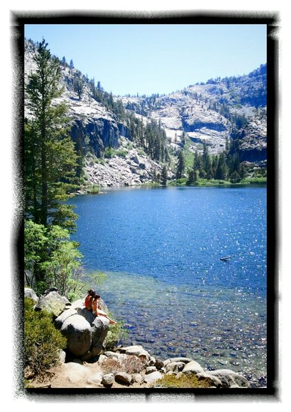 Rock Climbing Photo: Kids enjoying a summer's day on Eagle Lake with Ea...