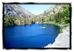 Rock Climbing Photo: Relaxing view of Eagle Lake from the cliff.
