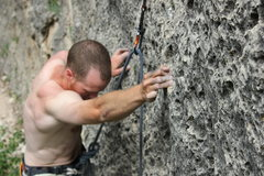 Rock Climbing Photo: Cool holds on this good route