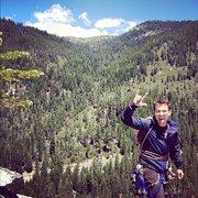 Rock Climbing Photo: Brian Aitken topped out after a quick run up Knaps...