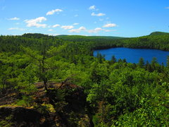 Rock Climbing Photo: The view at Parks Pond bluff