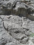 Rock Climbing Photo: Start of Hough's Crack; the right crack is the rou...