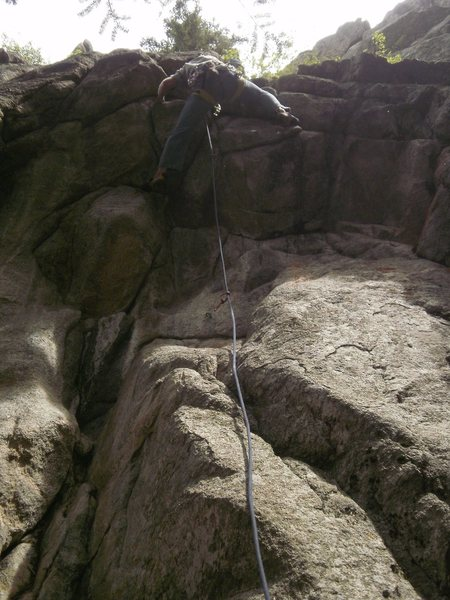 Rock Climbing Photo: Moving over the crux.