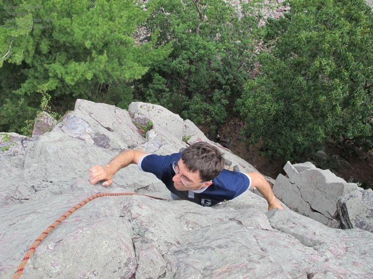 Rock Climbing Photo: Don't forget that little steep section at the top!