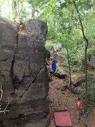 Rock Climbing Photo: Ryan on Slope of Dadaism.