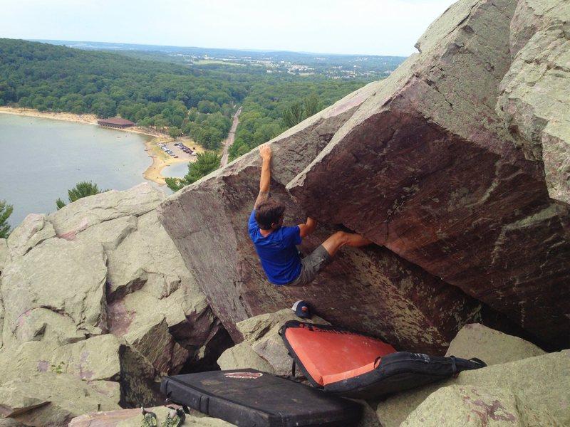Rock Climbing Photo: Ryan on Thigh Bar.