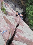 Rock Climbing Photo: Going for that last hand jam