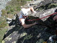 Rock Climbing Photo: Patrick Mulligan finishing the last pitch of Finge...