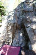 Rock Climbing Photo: Shady White Dikes Topo