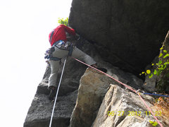 Rock Climbing Photo: Just before the crux move. I got three cams - a go...