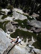 Rock Climbing Photo: Dan following P2 of Phobos.   Photo: Corey Gargano