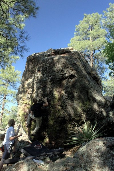 My first bouldering trip in the Magdalenas.