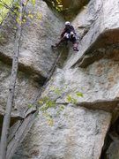 "Rock Climbing Photo: Scott deciphering the ""houdini-like"" mov..."