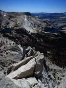 Rock Climbing Photo: Cathedral Lakes from the summit ridge of Eichorn's...