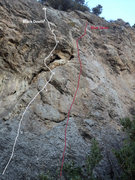 Rock Climbing Photo: Blue Skies and Black Death