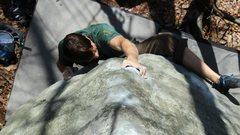 Rock Climbing Photo: Pete on Wrestling With Pride V5, a slopey lowball ...