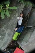 Rock Climbing Photo: Ben on The Switch V3, a committing problem towards...