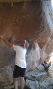 Rock Climbing Photo: A better pic to show the steepness of the Boiler r...