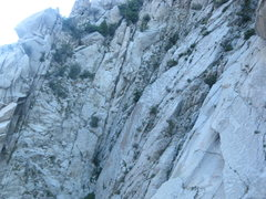Rock Climbing Photo: Right-slanting crack line just left of the center ...