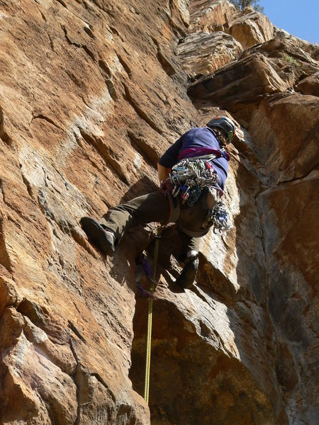 Rock Climbing Photo:  working the p1 crack