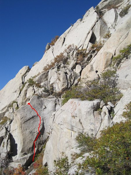 Rock Climbing Photo: Last of The Summer Wine. The Perseverence Wall upp...
