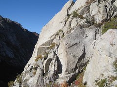 Rock Climbing Photo: Summer Wine.. with Warhorse traverse and slab to t...