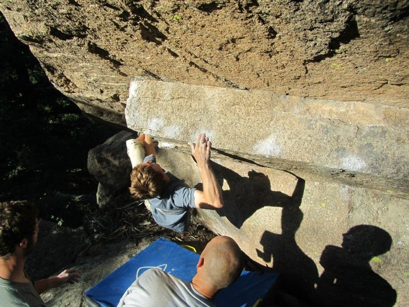 Rock Climbing Photo: Alex Garrett on an Abinadi extension.