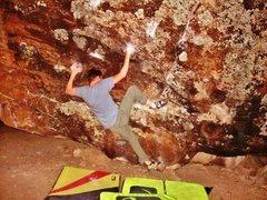 Rock Climbing Photo: Arien working through the beginning moves of Virtu...