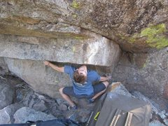 Rock Climbing Photo: It's also possible to do a lower sitstart to Abina...