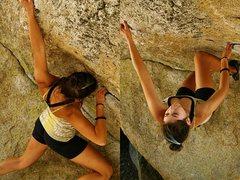 Rock Climbing Photo: Jackie Trejo working the center visor.
