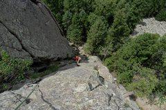 Rock Climbing Photo: Brenda climbs Hollow Man.
